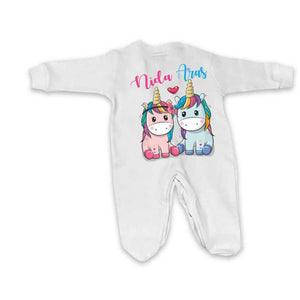 Baby Girl's Personalized White Romper Set