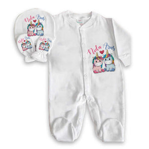 Baby Girl's Newborn Romper Set