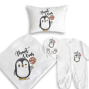 Baby's Penguin Print Newborn Set
