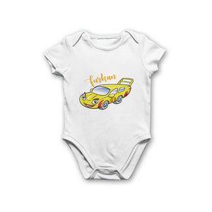 Baby Boy's Printed White Bodysuit