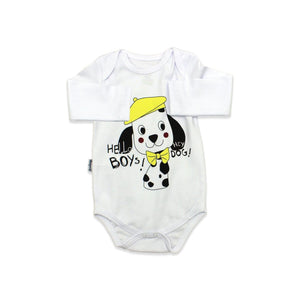 Baby's Printed Yellow White 3 Pieces Outfit Set