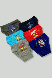 Boy's Patterned Panty- 6 Pieces