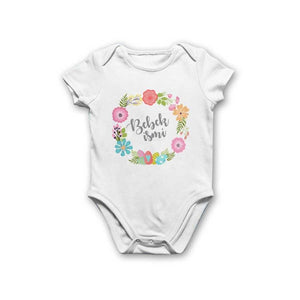 Baby Girl's Printed White Bodysuit
