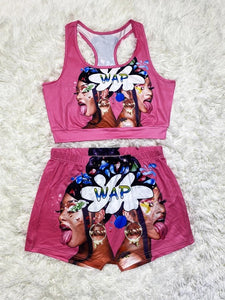 2 piece snack shorts set