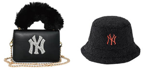 new york purses and hat set