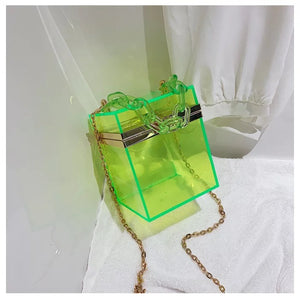 Women clear jelly shoulder purses