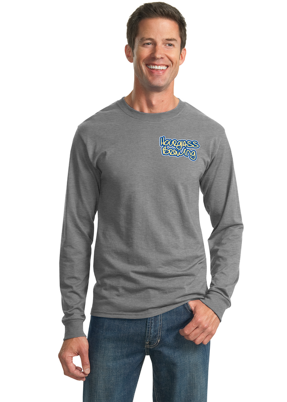 Gildan Heavyweight Long Sleeve Oxford T Shirt Custom Embroidered 29LS
