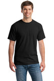 Gildan Cotton T Shirt Black Custom Embroidered 5000