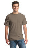 Gildan Cotton T Shirt Brown Custom Embroidered 5000