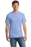 Gildan Cotton T Shirt Carolina Blue Custom Embroidered 5000