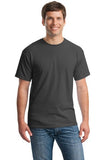 Gildan Cotton T Shirt Charcoal Custom Embroidered 5000