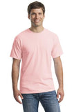 Gildan Cotton T Shirt Light Pink Custom Embroidered 5000