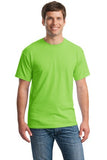 Gildan Cotton T Shirt Lime Green Custom Embroidered 5000