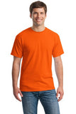 Gildan Cotton T Shirt Orange Custom Embroidered 5000