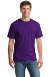 Gildan Cotton T Shirt Purple Custom Embroidered 5000