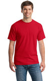 Gildan Cotton T Shirt Red Custom Embroidered 5000