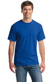Gildan Cotton T Shirt Royal Custom Embroidered 5000