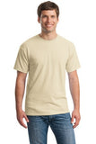 Gildan Cotton T Shirt Sand Custom Embroidered 5000