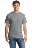 Gildan Cotton T Shirt Sport Grey Custom Embroidered 5000