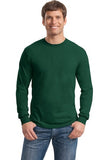 Gildan Long Sleeve Shirt Cotton Custom Embroidered 5400 DArk Green