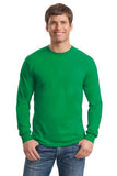 Gildan Long Sleeve Shirt Cotton Custom Embroidered 5400 Kelly Green