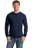Gildan Long Sleeve Shirt Cotton Custom Embroidered 5400 Navy
