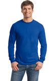 Gildan Long Sleeve Shirt Cotton Custom Embroidered 5400 Blue