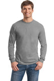 Gildan Long Sleeve Shirt Cotton Custom Embroidered 5400 Grey