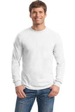 Gildan Long Sleeve Shirt Cotton Custom Embroidered 5400 White