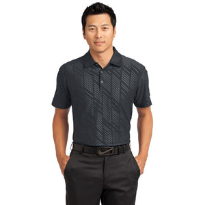 Nike Dri FIT Embossed Polo Custom Embroidered 632412 Black