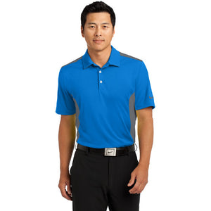 Nike Dri FIT Engineered Mesh Polo Custom Embroidered 632418Aero Blue dark Grey