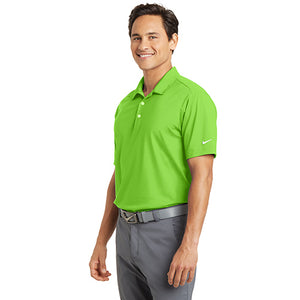 58d0577df4b2 Bardsey Pl Nike Dri FIT Vertical Mesh Polo Custom Embroidered 637167 Action  Green