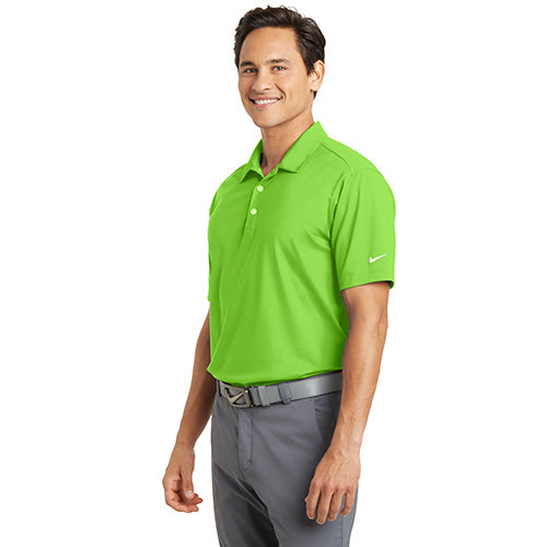 Bardsey Pl Nike Dri FIT Vertical Mesh Polo Custom Embroidered 637167 Action Green