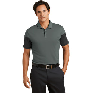 Nike Dri Fit Sleeve Colorblock Modern Fit Polo Custom Embroidered 779802 Anthracite/Black