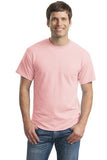 Gildan Dry Blend Shirt Light Pink Custom Embroidered 8000