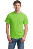 Gildan Dry Blend Shirt Lime Green Custom Embroidered 8000