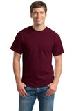 Gildan Dry Blend Shirt Maroon Custom Embroidered 8000