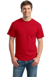 Gildan Dry Blend Shirt Red Custom Embroidered 8000