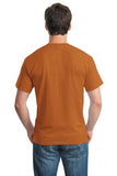Gildan Dry Blend Shirt Texas Orange Custom Embroidered 8000