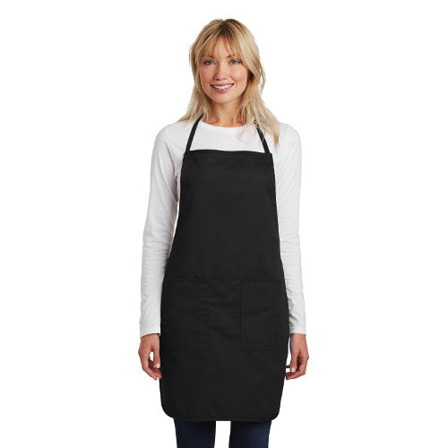 Port Authority  Full Length Apron  Custom Embroidered A520 Black