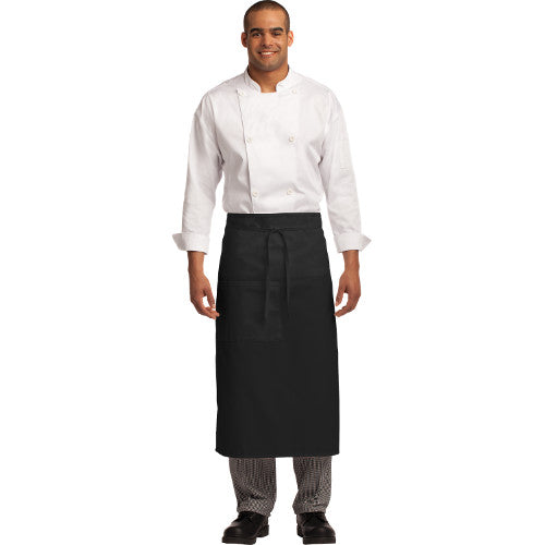 Port Authority Easy Care Full Bistro Apron Stain Release Custom Embroidered A701 Black