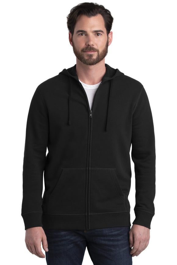 Alternative Fleece Zip Hoodie Black Custom Embroidered AA8050
