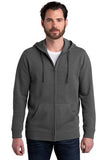 Alternative Fleece Zip Hoodie Heather Charcoal Custom Embroidered AA8050