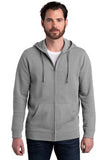 Alternative Fleece Zip Hoodie Heather Grey Custom Embroidered AA8050