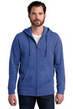 Alternative Fleece Zip Hoodie Rich Royal Custom Embroidered AA8050