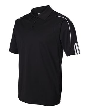 Adidas Climalite 3 Stripes Cuff Sport Shirt Custom Embroidered A76 Black White