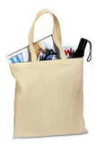 Port Company Budget Tote Natural Custom Embroidered B150