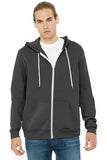 Bella Canvas Full Zip Hoodie Asphalt Custom Embroidered BC3739