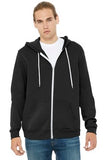 Bella Canvas Full Zip Hoodie Black Custom Embroidered BC3739