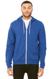 Bella Canvas Full Zip Hoodie Heather True Royal Custom Embroidered BC3739